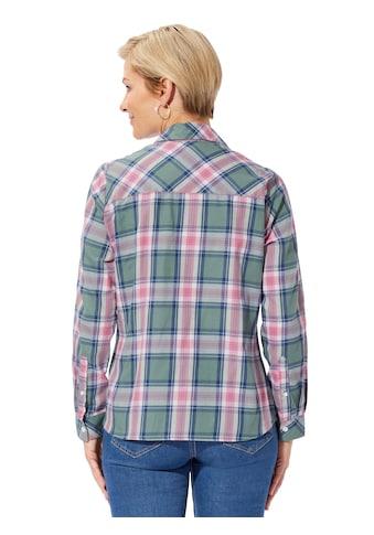 Bluse in weich angerauter Flanell - Qualität kaufen