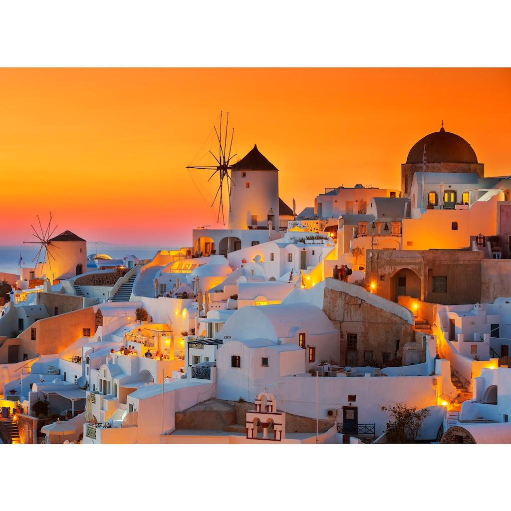 Papermoon Fototapete »Santorini Sunset«