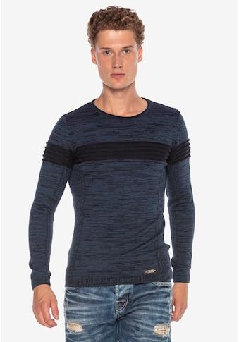Cipo & Baxx Rundhalspullover, im modernen Look kaufen