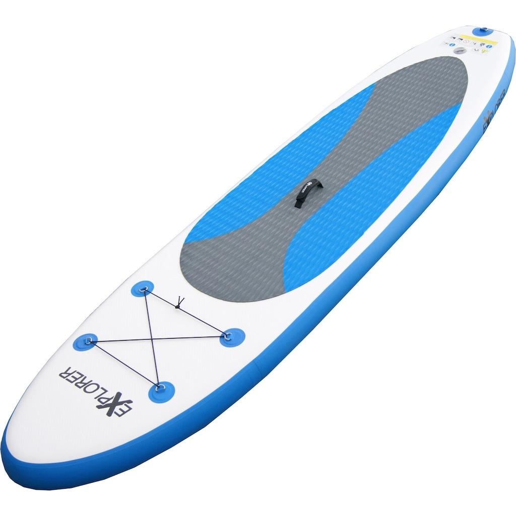 EXPLORER Inflatable SUP-Board »Explorer SUP 300 blau«, (Set, mit Paddel, Pumpe und Transportrucksack)