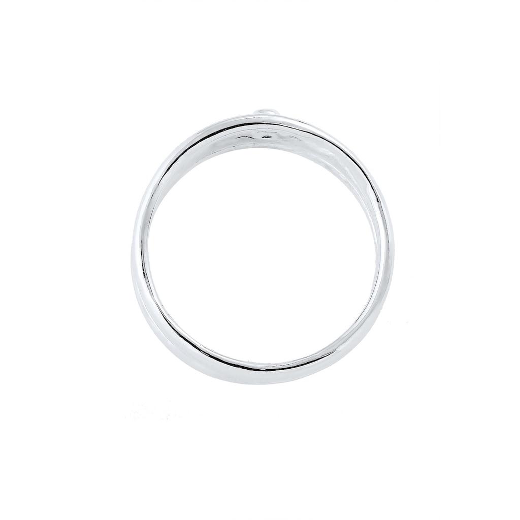 Elli Diamantring »Wickelring Asymmetrisch Diamant (0.015ct.) Silber«