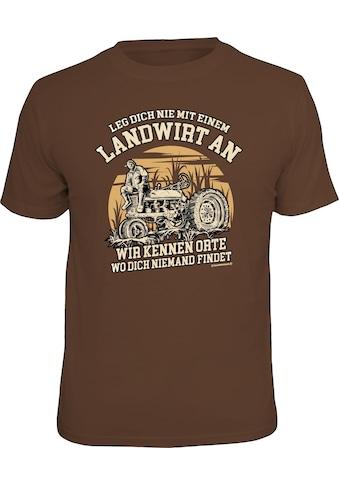 Rahmenlos T - Shirt mit lustigem Print »Leg dich nicht mit einem Landwirt an« kaufen
