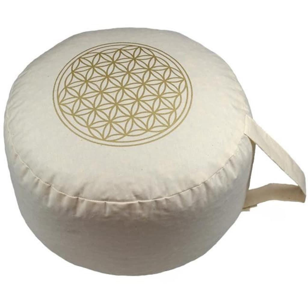 herbalind Yogakissen »Blume des Lebens«, Füllung 100% Bio-Dinkelspelz