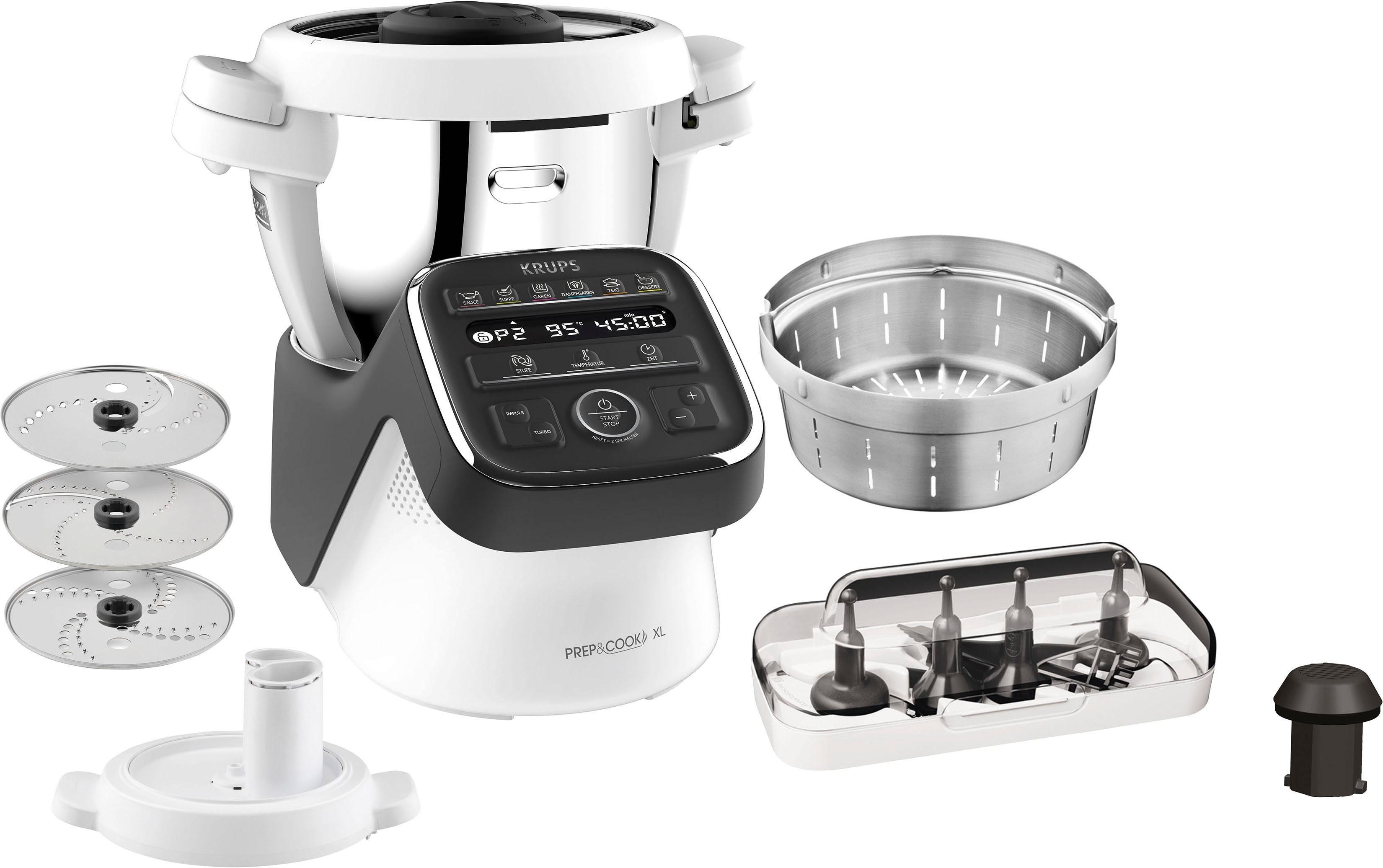 Krups Küchenmaschine mit Kochfunktion HP50A8 Prep&Cook XL schwarz Küchenmaschinen Haushaltsgeräte