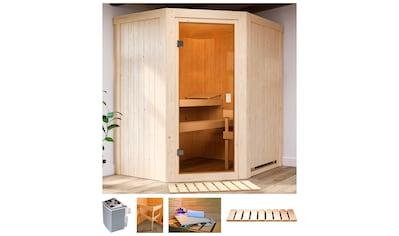 KARIBU Sauna »Fedder«, BxTxH: 170x151x198 cm, 4,5 kW Ofen mit int. Strg. kaufen