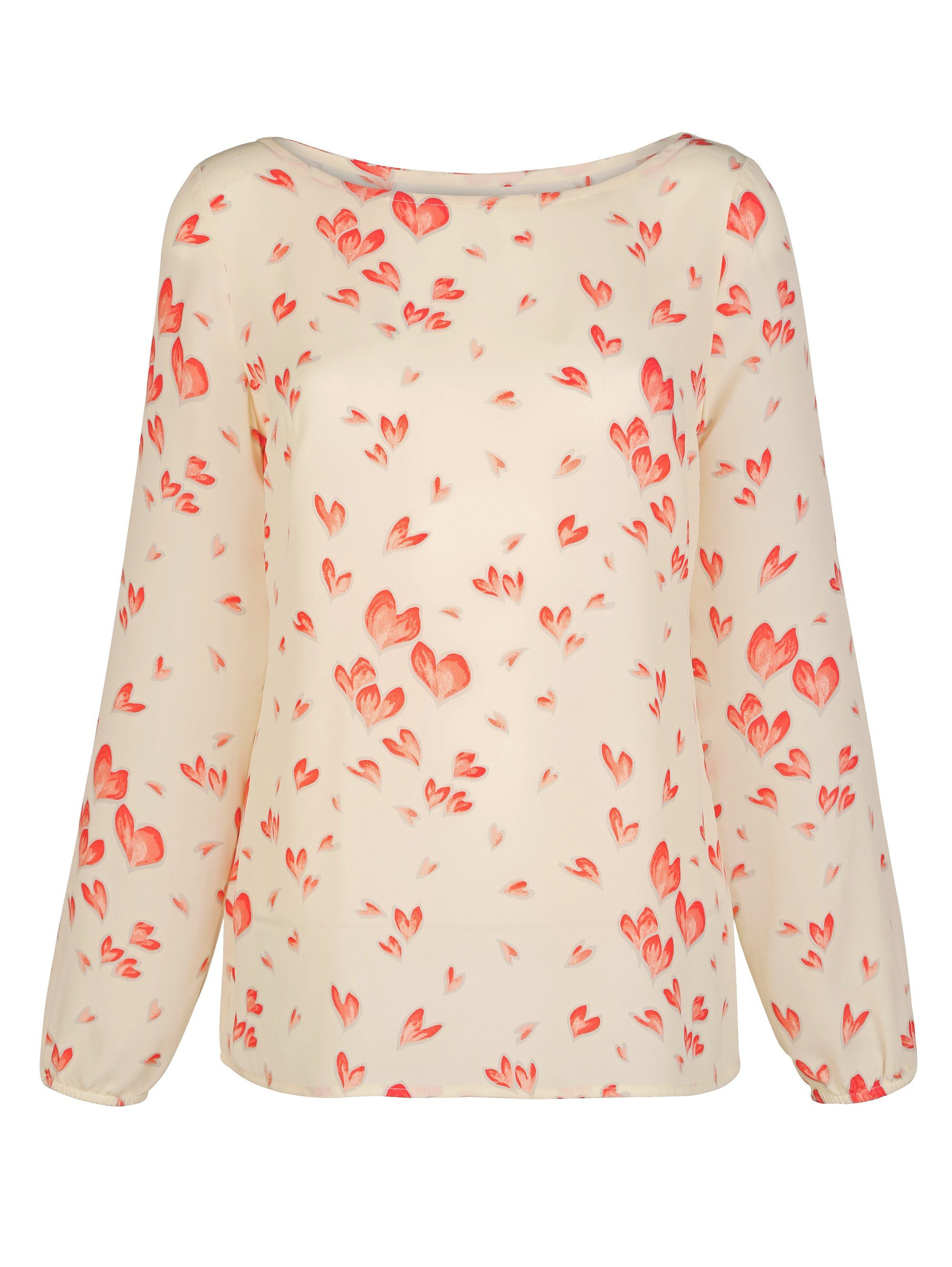 Alba Moda Blusenshirt mit Herzchen-Print