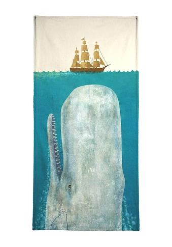 Juniqe Strandtuch »The Whale«, (1 St.), Weiche Frottee-Veloursqualität kaufen