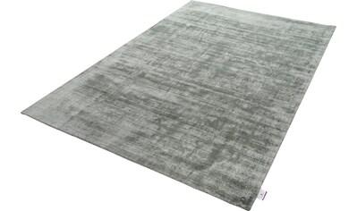 TOM TAILOR Teppich »Shine uni«, rechteckig, 8 mm Höhe, handgewebt, 100% Viskose, mit... kaufen