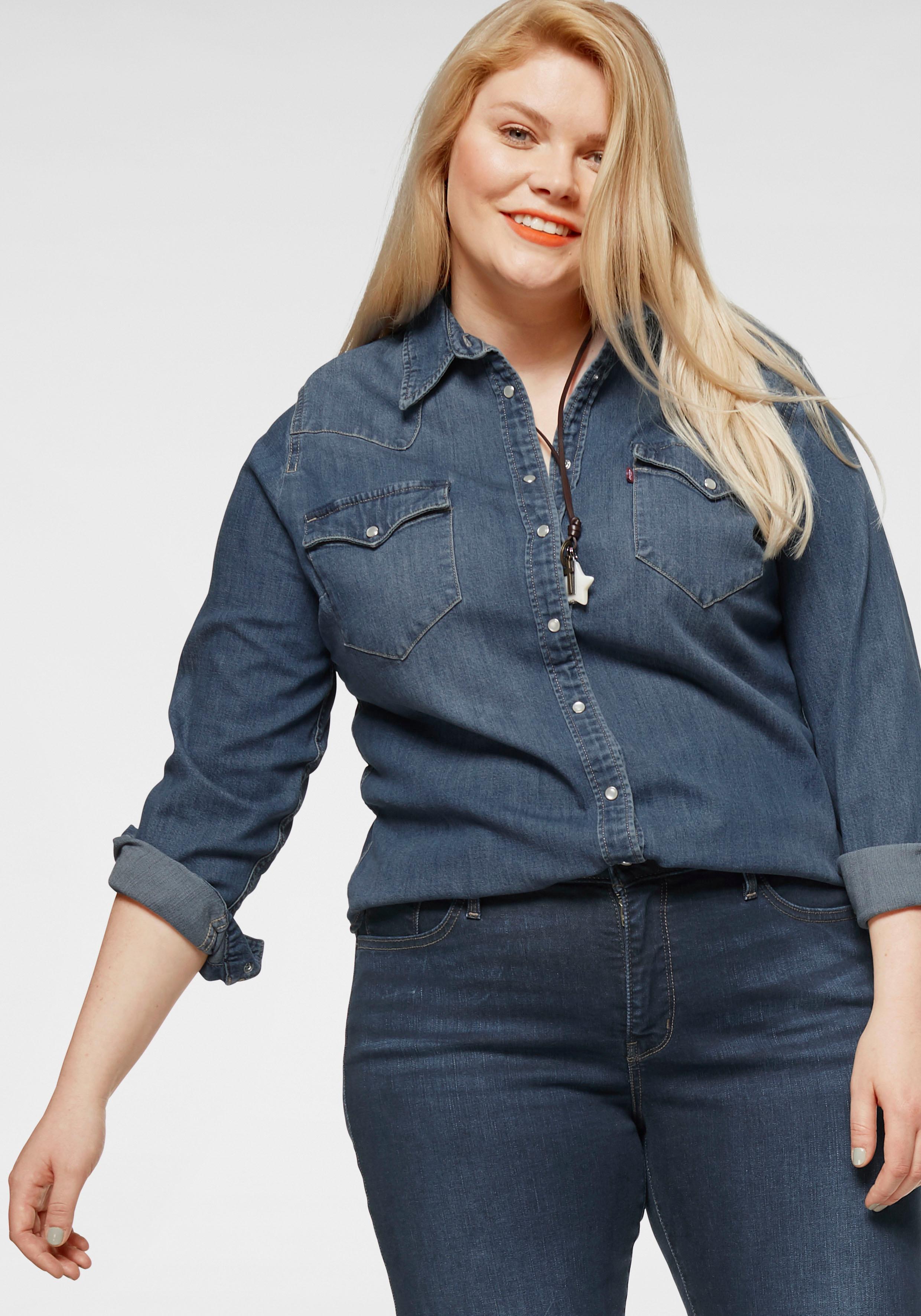 Levi's Plus Jeansbluse Plus Size Western Shirt