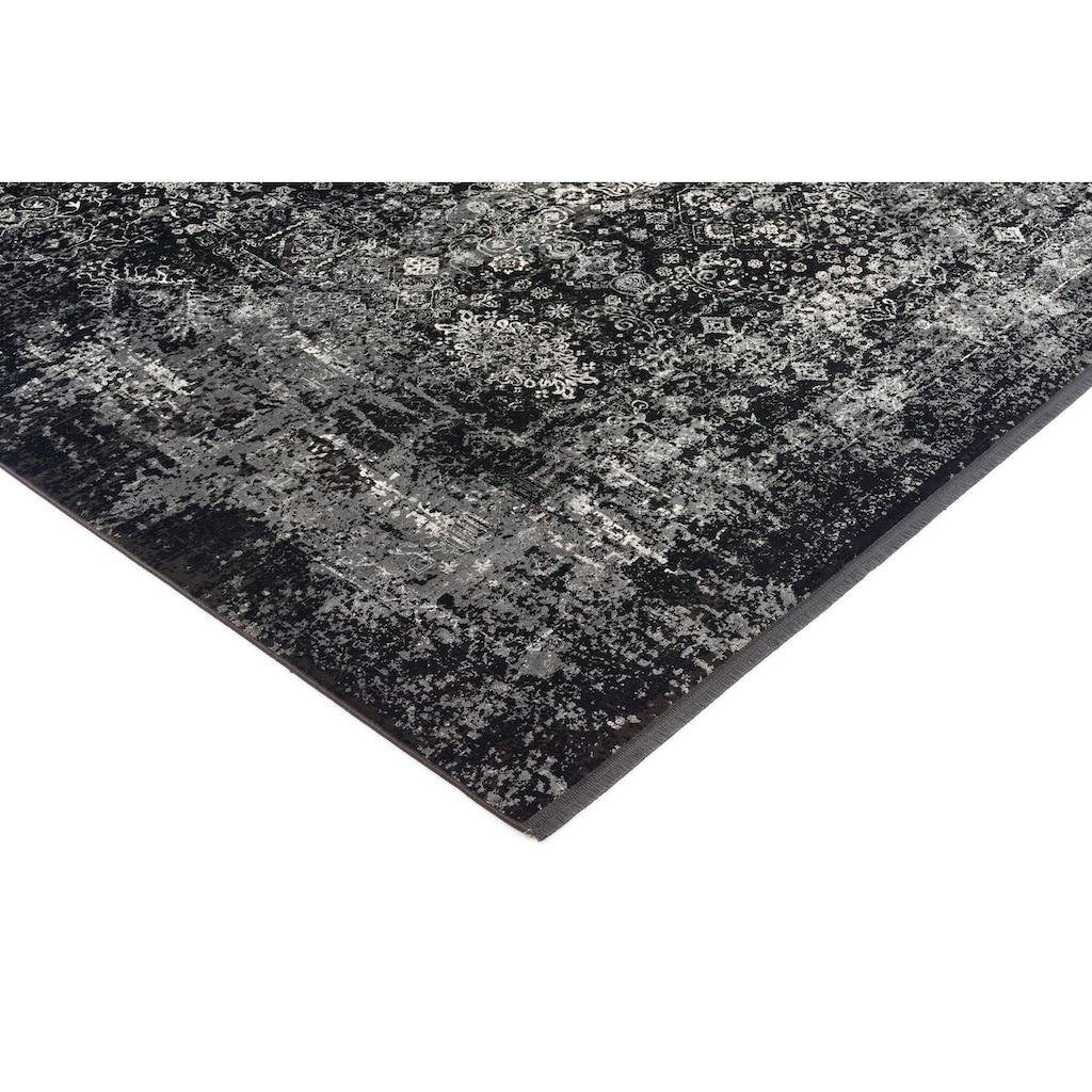 OCI DIE TEPPICHMARKE Teppich »Magic«, rechteckig, 8 mm Höhe, Glanz Viskose, mit Fransen, Wohnzimmer