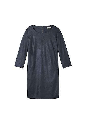 Sandwich Kleid in Wildlederoptik kaufen