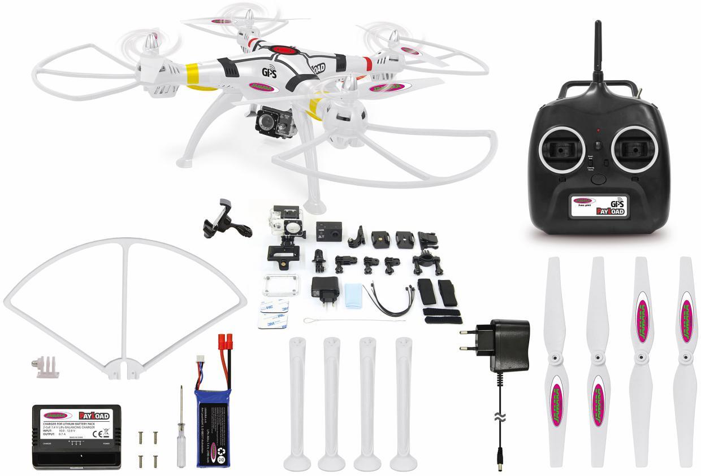 JAMARA Quadrocopter mit Actioncam und GPS, »Pay...