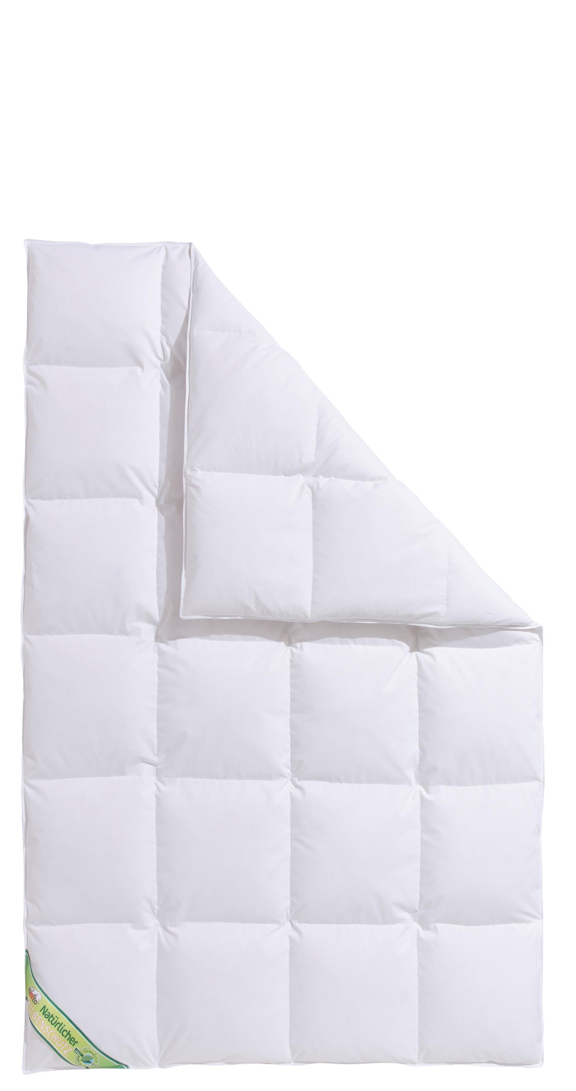 Daunenbettdecke Maja Hanse by RIBECO warm Füllung: 60% Daunen 40% Federn Bezug: 100% Baumwolle
