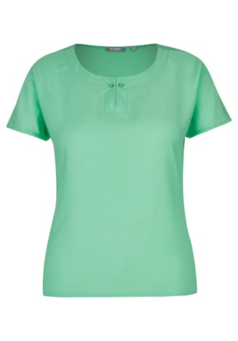 Rabe T-Shirt mit Uni-Design und Spangendetail kaufen