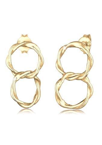 Elli Paar Ohrstecker »Ohrhänger Gedreht Zwei Kreise Geo 925er Silber« kaufen