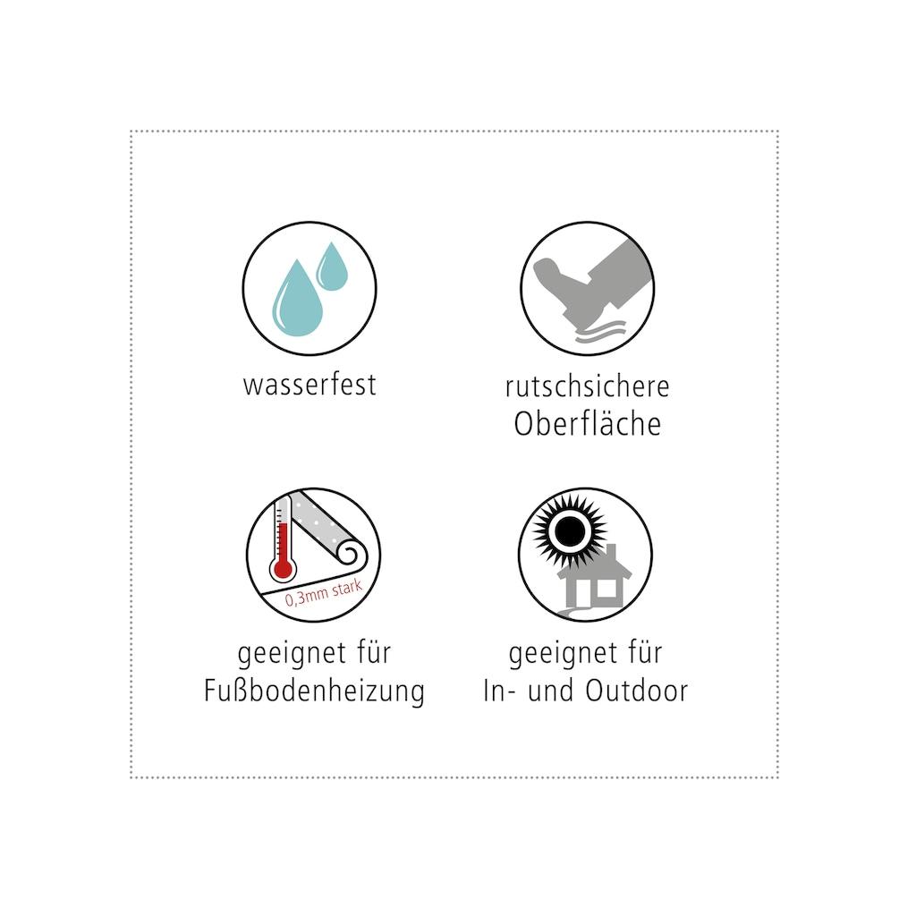 MySpotti Vinylteppich »Fortuna«, rund, 0 mm Höhe, rund, wasserfest und statisch haftend