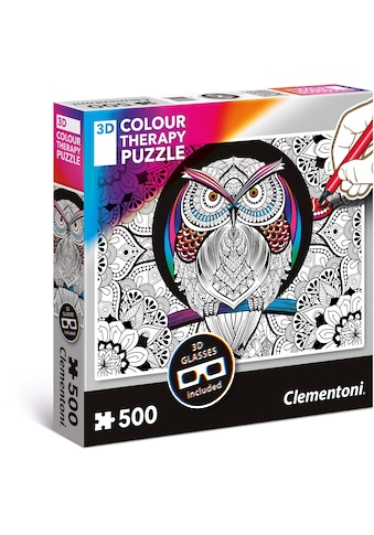 Clementoni® Puzzle »Colour Therapy - Eule«, mit 3D Effekt; Made in Europe kaufen