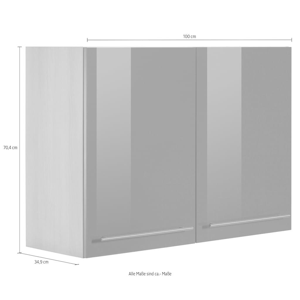 OPTIFIT Hängeschrank »Bern«, Breite 100 cm, 70 cm hoch, 2 Türen, mit Metallgriffen