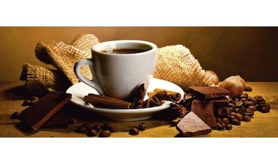 Home affaire Glasbild »Yastremska: Kaffeetasse, -bohnen«, 125/50 cm kaufen