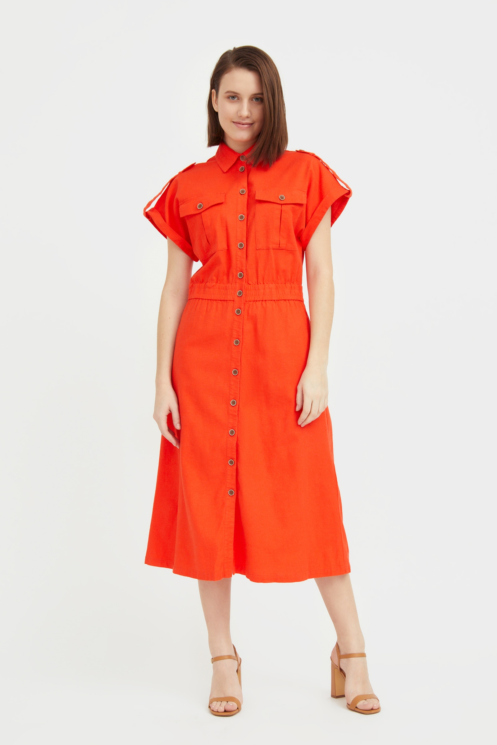finn flare -  Jerseykleid, mit kurzen Ärmeln