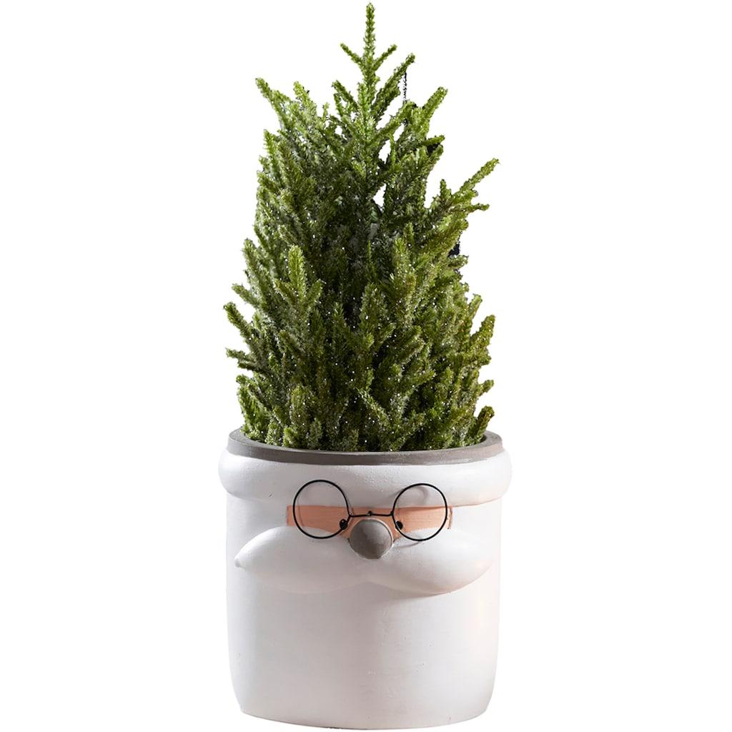 Übertopf »Santa Claus«, aus Keramik, Höhe 15,7 cm