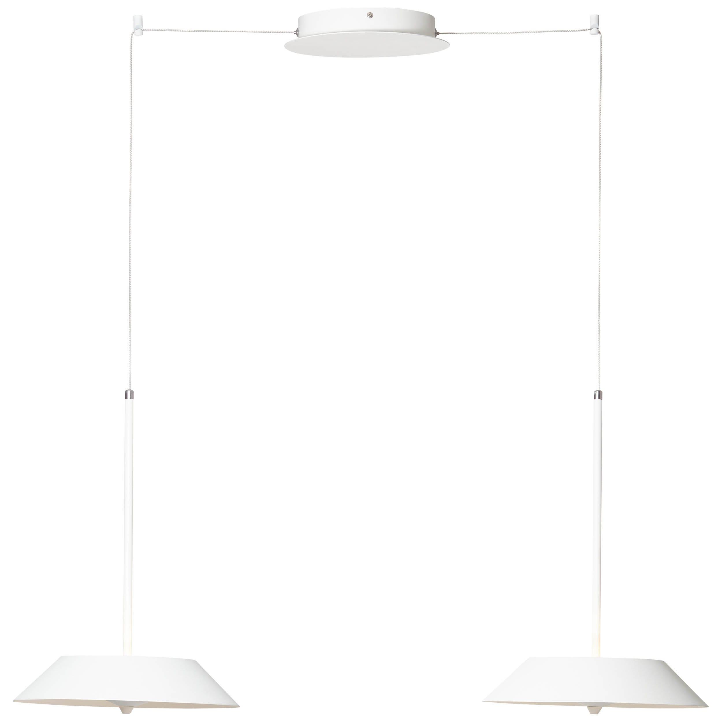 Brilliant Leuchten Skadi LED Pendelleuchte 2flg weiß