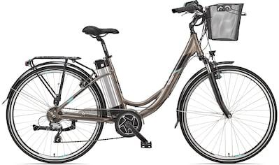 Telefunken E-Bike »Multitalent RC860«, 7 Gang, Shimano, Shimano Acera, Mittelmotor 250 W, (mit Fahrradkorb) kaufen