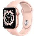 Apple Watch »Series 6 GPS, Aluminiumgehäuse mit Sportarmband 40mm« (, Watch OS, inkl. Ladestation (magnetisches Ladekabel)
