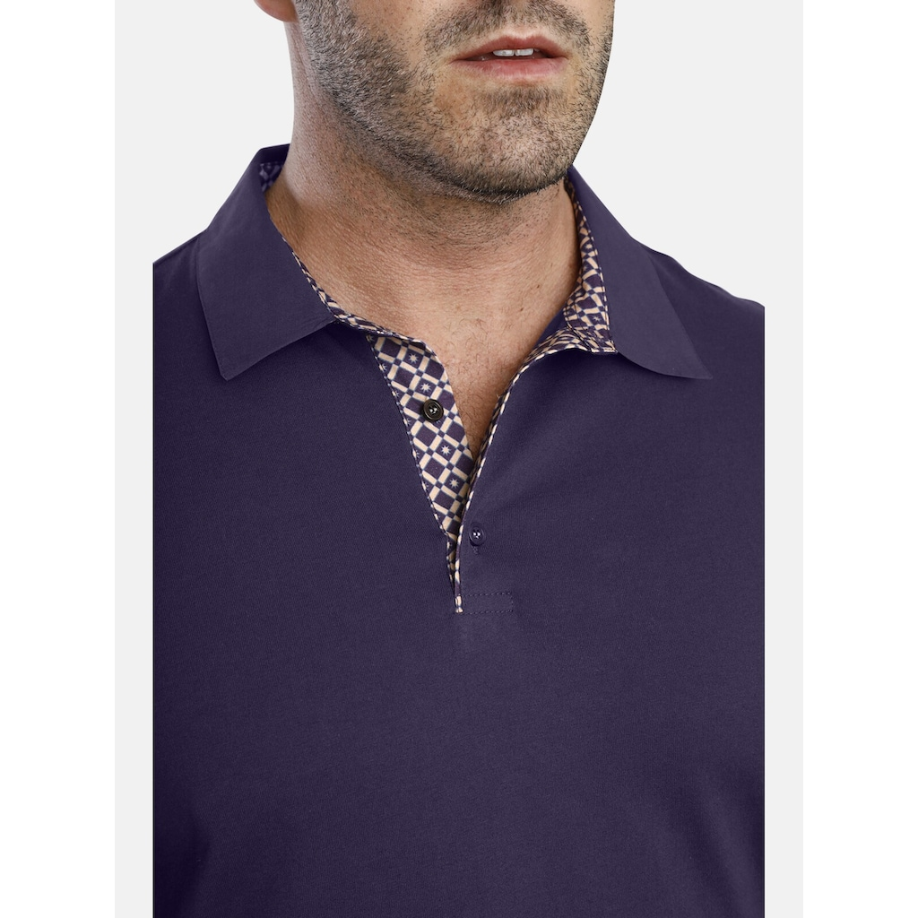 Charles Colby Poloshirt »EARL ALON«, Knopfleiste mit Kontrast