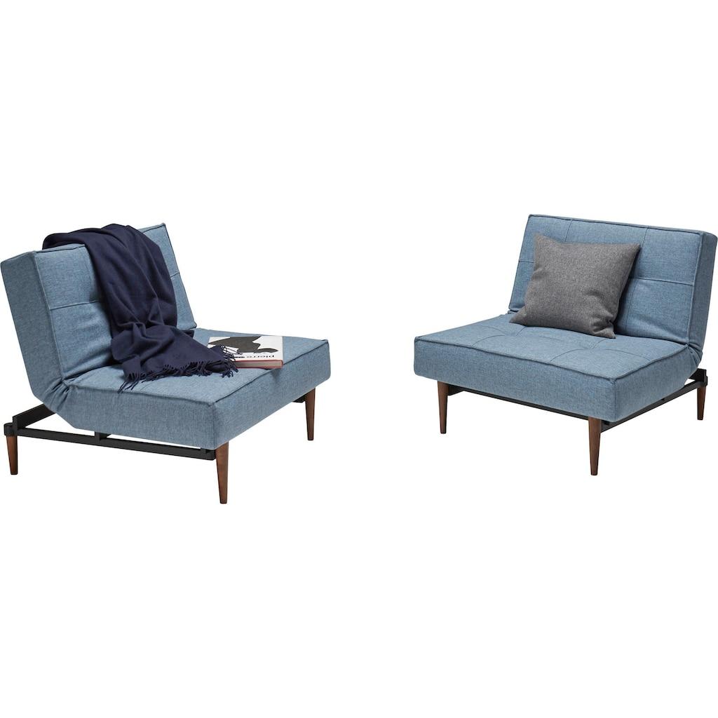 INNOVATION LIVING ™ Sessel »Splitback«, mit dunklen Styletto Beinen, in skandinavischen Design
