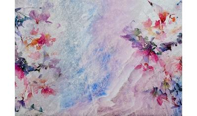 Consalnet Papiertapete »Marmor Optik mit Blumen«, floral kaufen