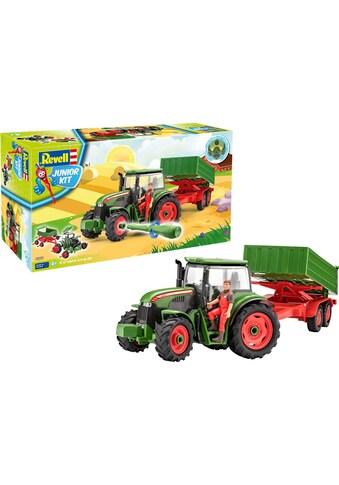 Revell® Modellbausatz »Junior Kit Traktor & Anhänger, grün mit Figur«, (Set), 1:20, Made in Europe kaufen