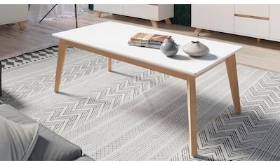 Homexperts Couchtisch »Kaitlin«, Breite 110 cm, weiße Platte, Gestell aus Massivholz kaufen