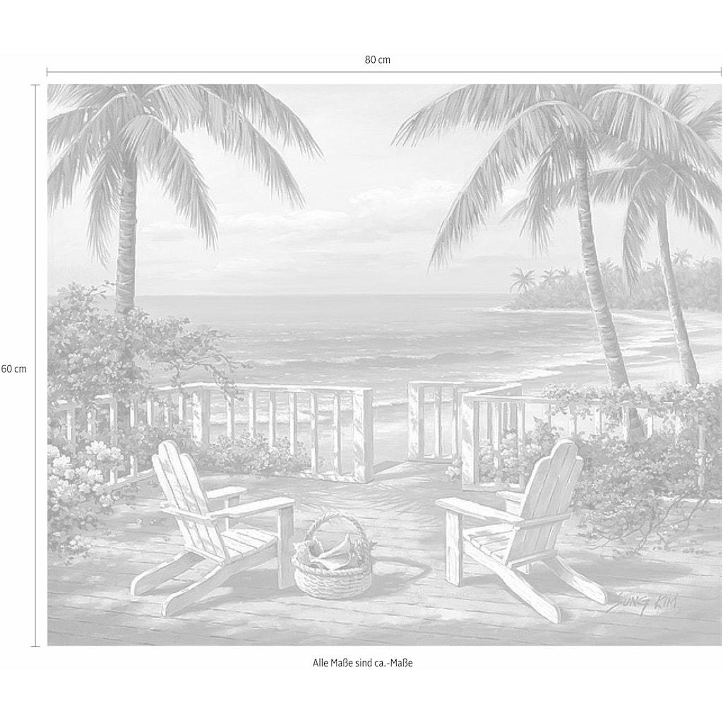 Home affaire Deco-Panel »SUNG KIM / Küstenansicht«, 80/60 cm