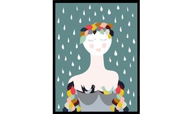 G&C Kunstdruck »Rainy Lady«, 33/43 cm, gerahmt kaufen