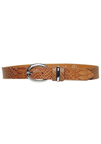 AnnaMatoni Ledergürtel, Schlangenprägung kaufen