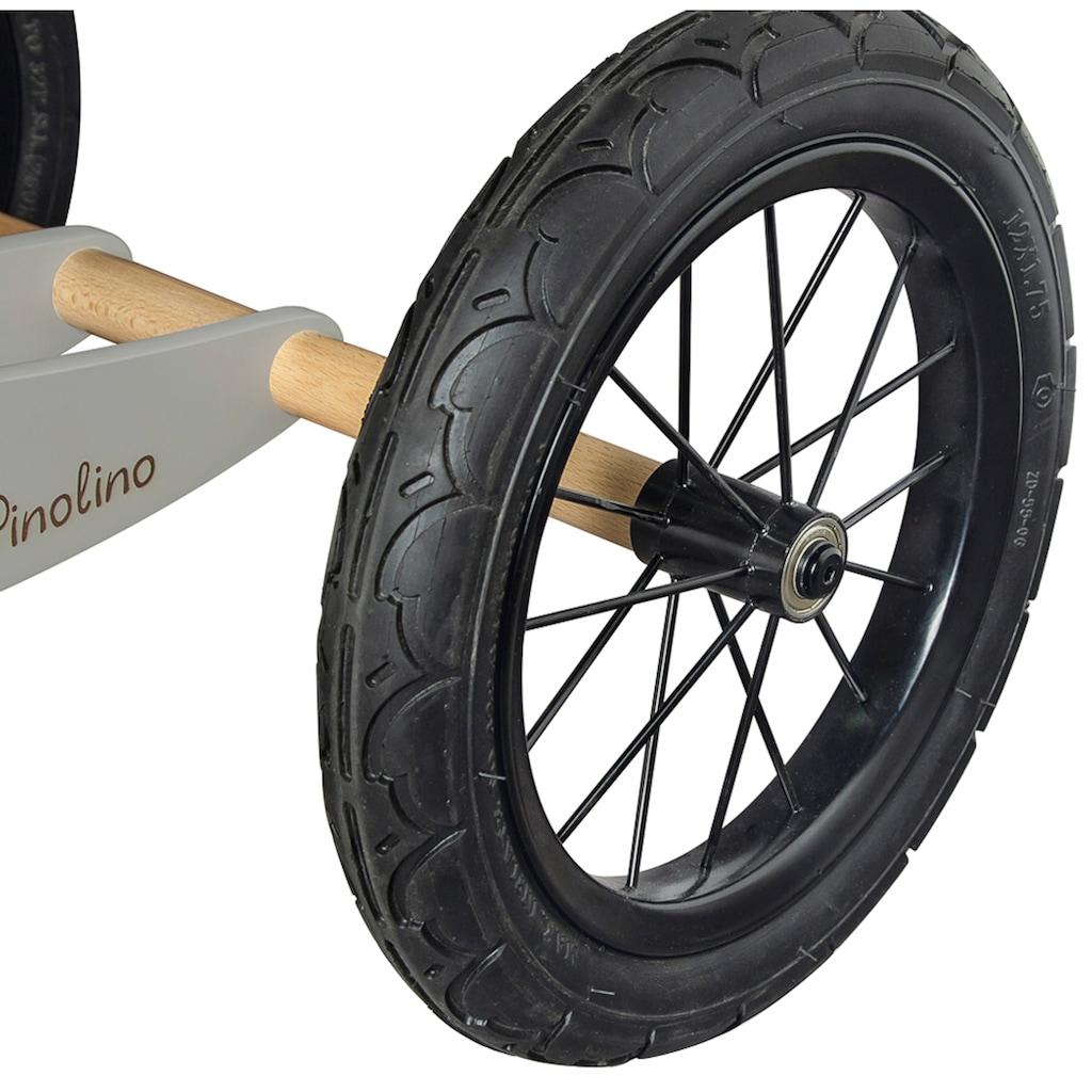 Pinolino® Laufrad »Laufrad Oskar grau/natur«, umbaubar zum Lauflerndreirad
