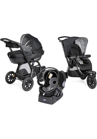 Chicco Kombi-Kinderwagen »Trio-System Activ3 Top, Jet Black«, 15 kg, mit Regenschutz kaufen
