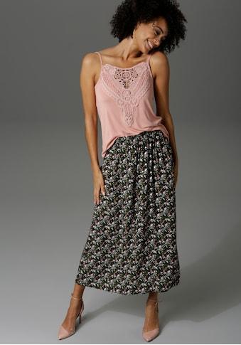 Aniston CASUAL Sommerrock, mit Blumendruck - NEUE KOLLEKTION kaufen