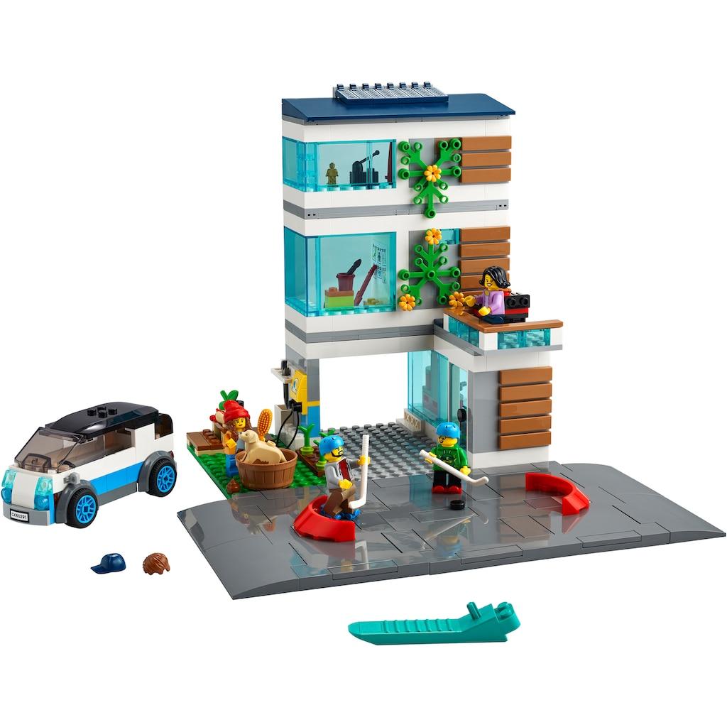 LEGO® Konstruktionsspielsteine »Modernes Familienhaus (60291), LEGO® City Community«, (388 St.), Made in Europe