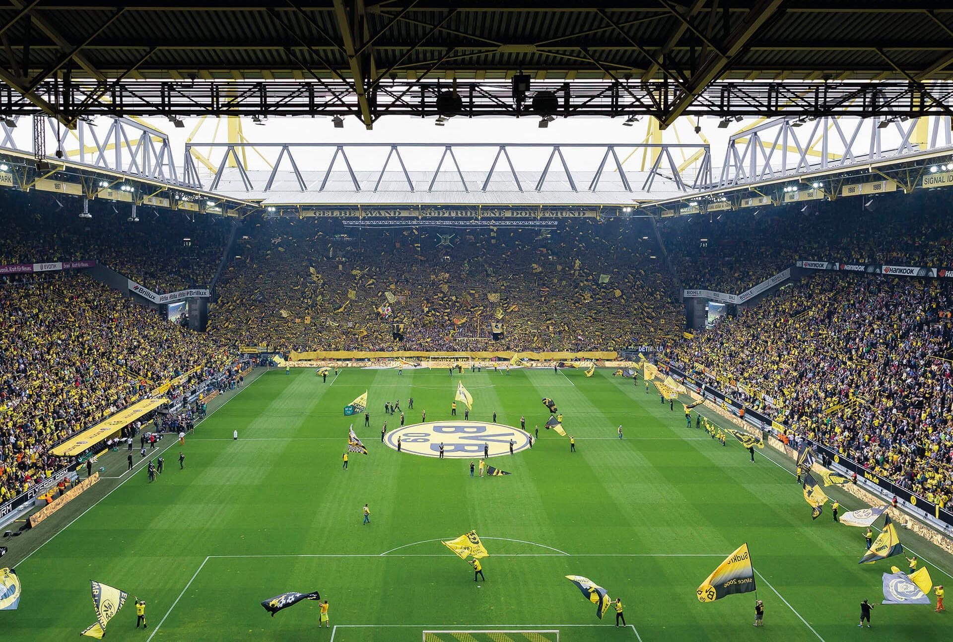 Fototapete BVB - Fan-Choreo bunt Fototapeten Tapeten Bauen Renovieren