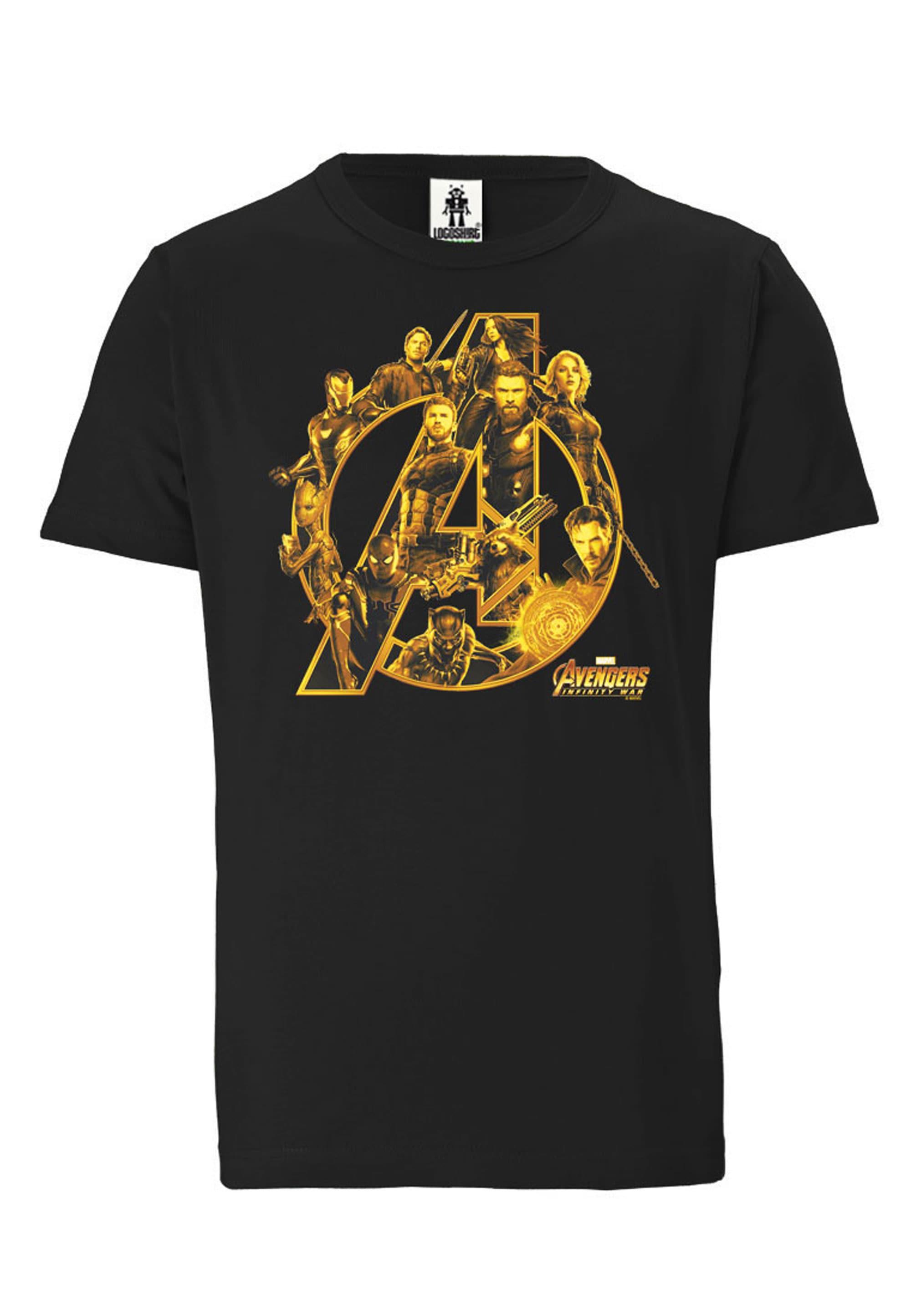 logoshirt -  T-Shirt mit coolem Avengers-Frontprint