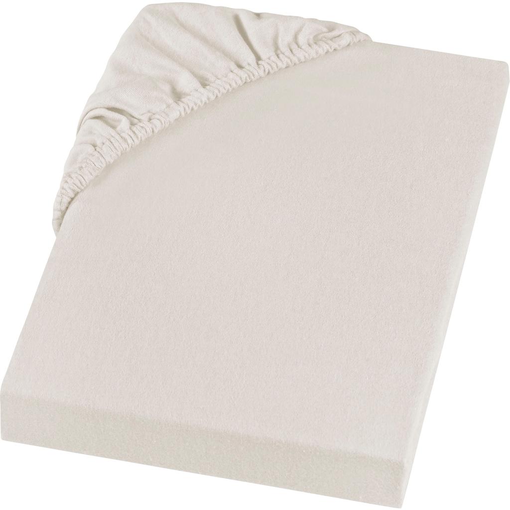 SETEX Spannbettlaken »Feinbiber Spannbettlaken«, in weicher Stoffqualität