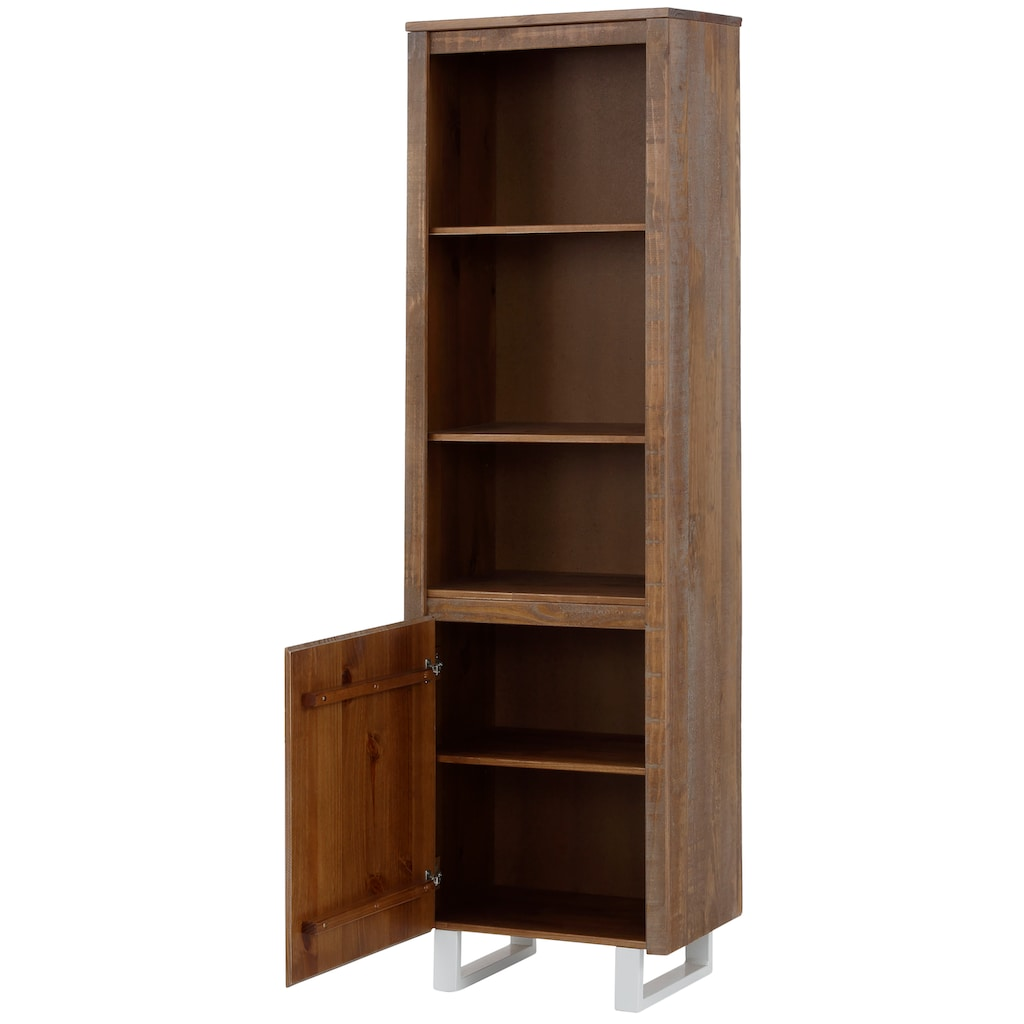 Home affaire Bücherregal »Lagos«, aus schönem massivem Kiefernholz, grifflos, Breite 55 cm