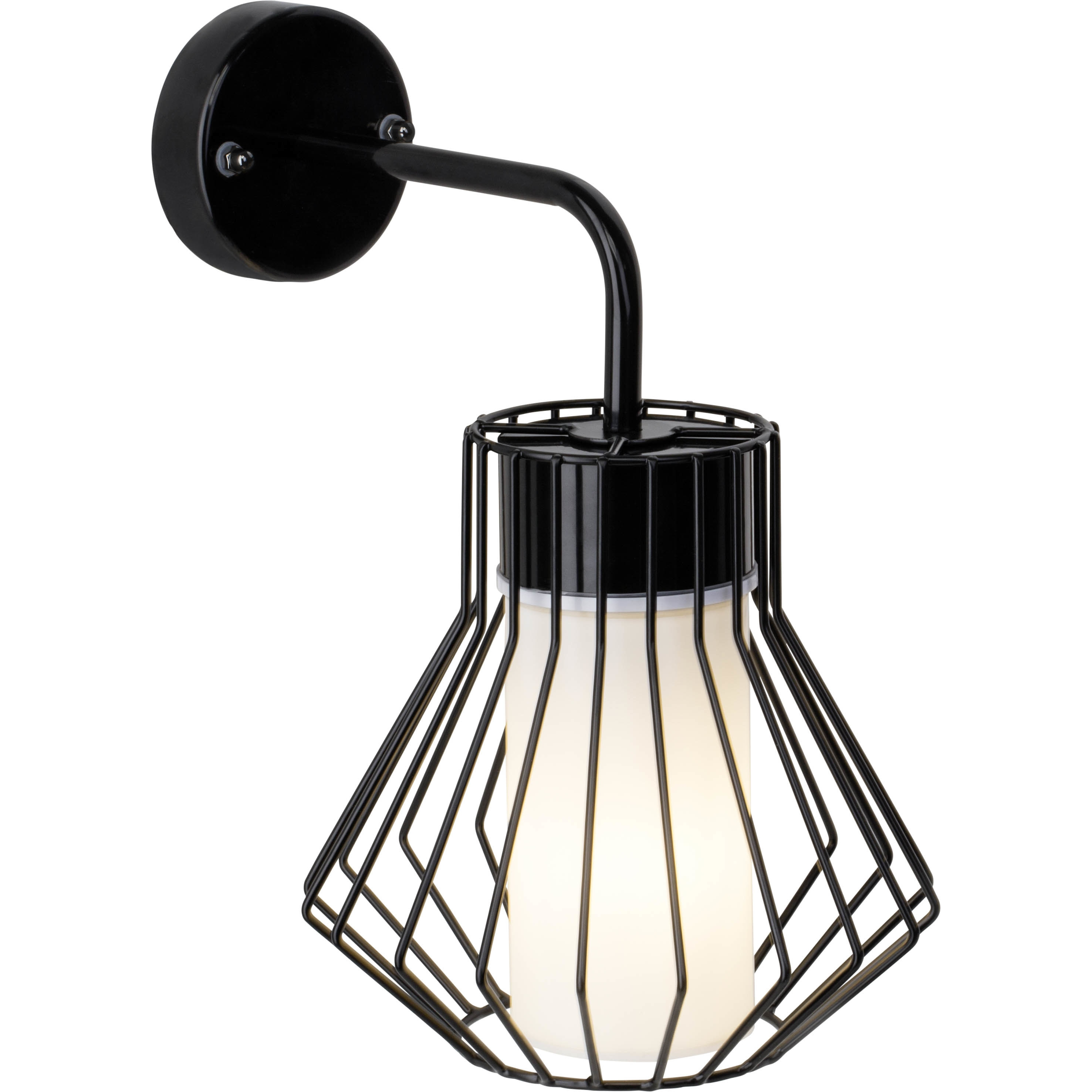 Brilliant Leuchten Dalmext Außenwandleuchte hängend schwarz/weiß