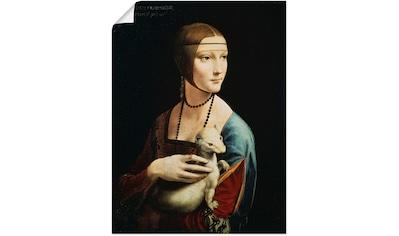 Artland Wandbild »Dame mit dem Hermelin Porträt«, Frau, (1 St.), in vielen Größen &... kaufen