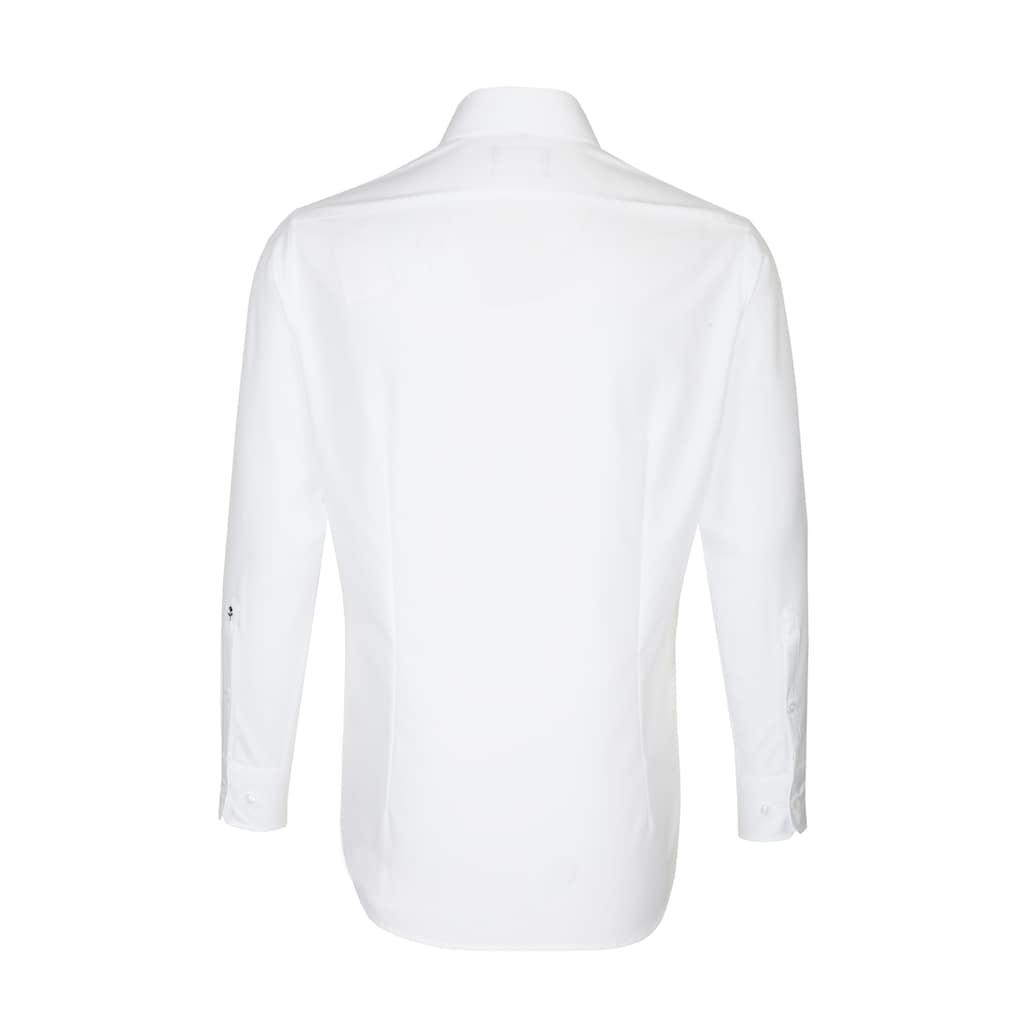 seidensticker Businesshemd »Slim«, Slim Extra kurzer Arm Kentkragen Uni