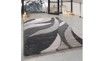 Paco Home Hochflor-Teppich »Ponto 821«, rechteckig, 40 mm Höhe, Wohnzimmer kaufen