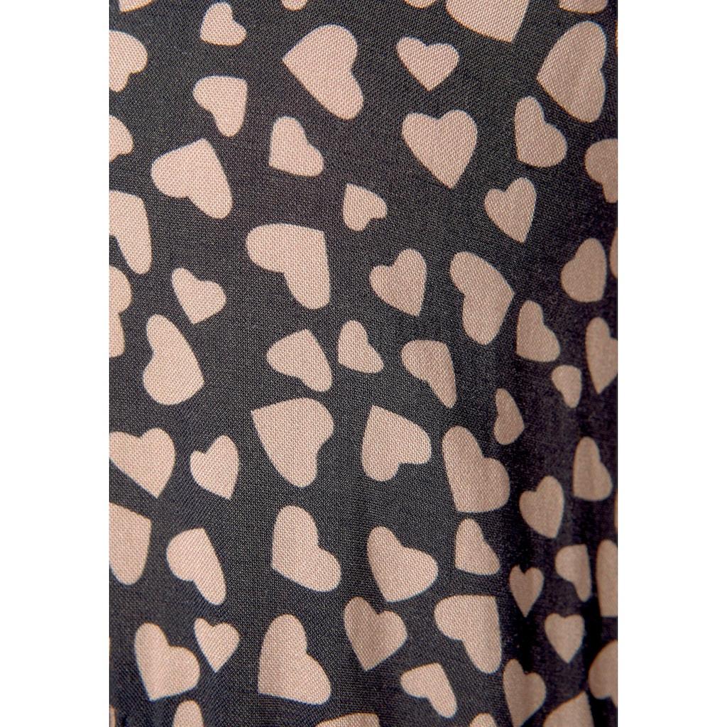 LASCANA Blusenkleid, mit Herzchenprint