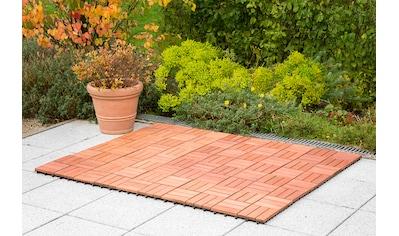 Merxx Holz - Fliesen »Eukalyptus« mit Klick - Verbindung, Fläche: 0,9 m²/Paket, braun kaufen